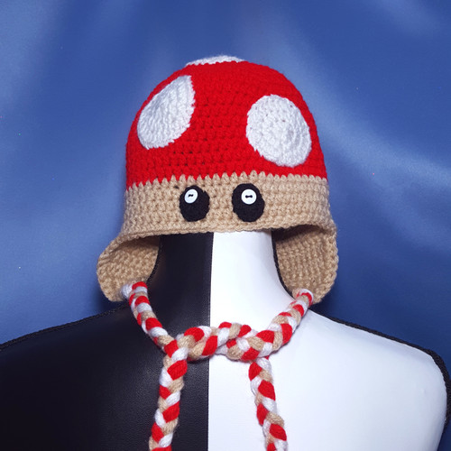 Toad (Mushroom) Hat from Mario Brothers by Mumsie of Stratford.