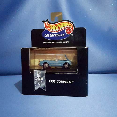 Hot Wheels 1953 Corvette Car Collectible with Case by Mattel.
