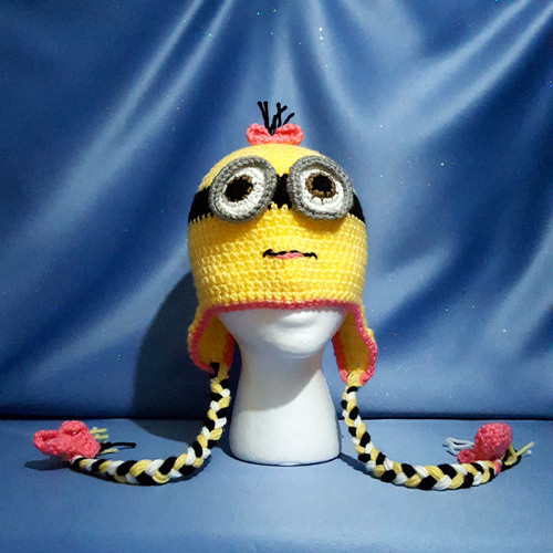 Minion Girl Character Hat by Mumsie of Stratford
