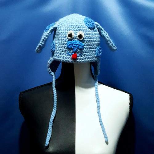 Blue Dog Character Hat by Mumsie of Stratford