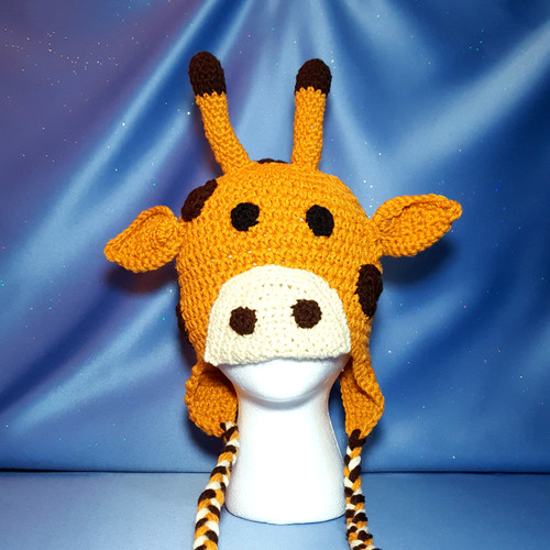 Giraffe Character Hat by Mumsie of Stratford