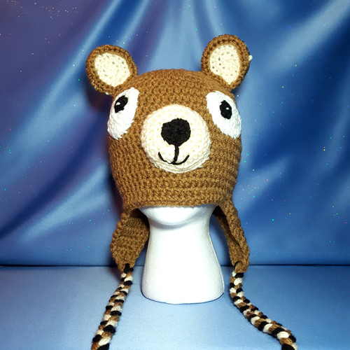 Brown Bear Character Hat by Mumsie of Stratford