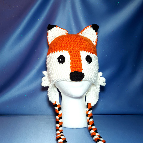 Red Fox Character Hat by Mumsie of Stratford