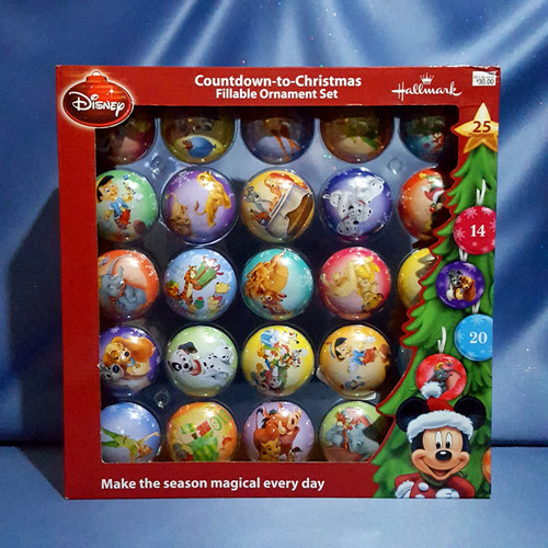 Disney Countdown to Christmas Fillable Ornament Set by Hallmark