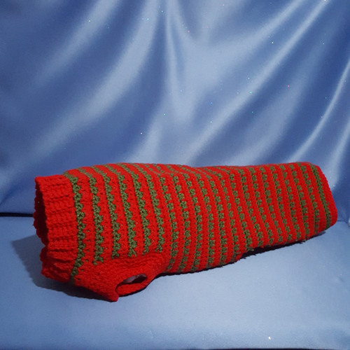 Dog Sweater Custom Made for a Dachshund mix by Mumsie of Stratford
