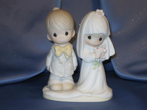 "Jonathan & David ""The Lord Bless You and Keep You"" Figurine by Enesco W/Comp Box."