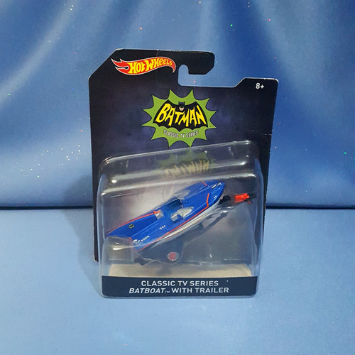 "Batman ""Batboat with Trailer"" by Hot Wheels."