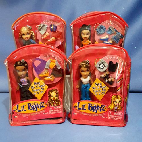 Lil Bratz Dolls Cloe, Jade, Sasha and Yasmin (4) by MGA Entertainment.