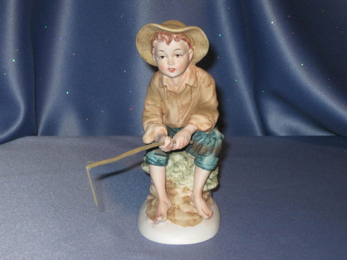 Huckleberry Boy Fishing by Lefton.