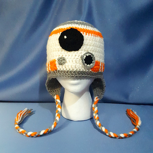 """Star Wars """"BB-8 Droid"""" Character Hat by Mumsie of Stratford."""