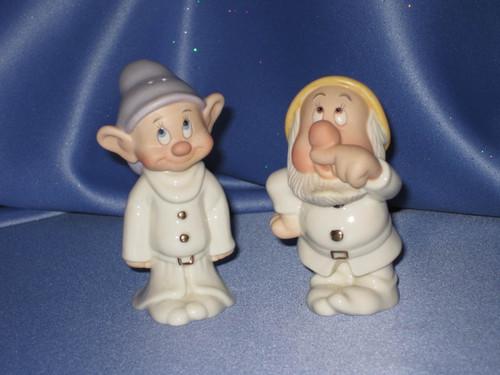 Disney's Dopey and Sneezy Salt & Pepper Shaker Set by Lenox.