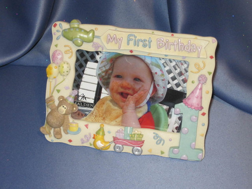 My First Birthday Photo Frame by Malden.