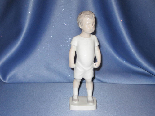 Boy Standing with Ball Figurine by Bing & Grondahl.