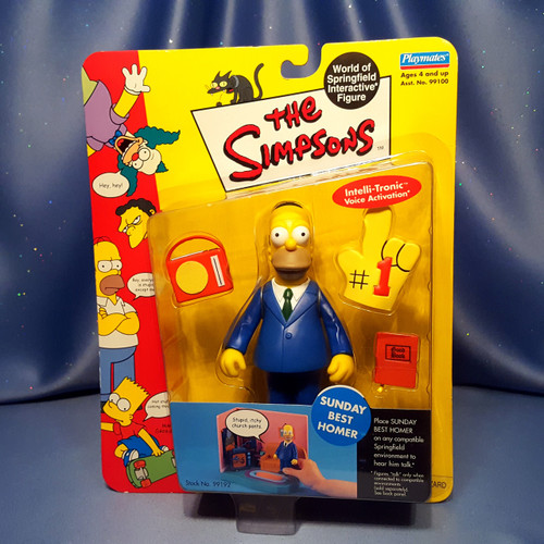 The Simpsons Sunday Best Homer Action Figure by Playmates.