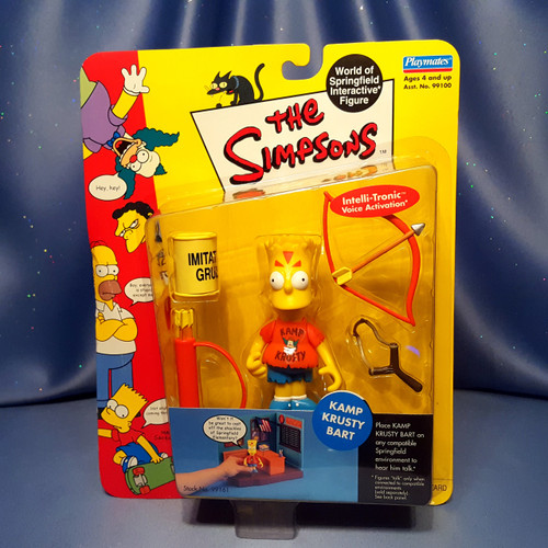 The Simpsons Kamp Krusty Bart Action Figure by Playmates.
