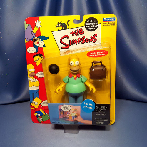 The Simpsons Pin Pal Homer Action Figure by Playmates
