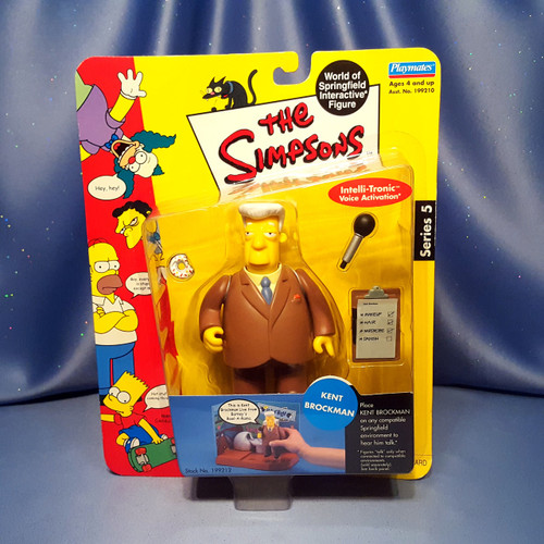 The Simpsons Kent Brockman Action Figure by Playmates.