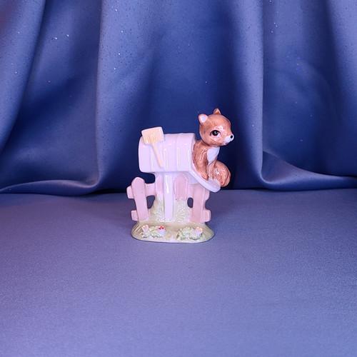 Squirrel in Mailbox Figurine Maruri Masterpiece by Enesco W/Comp Box.