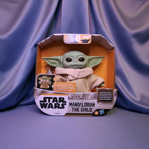 Star Wars Mandalorian The Child Baby Yoda Animatronic Edition by Hasbro.