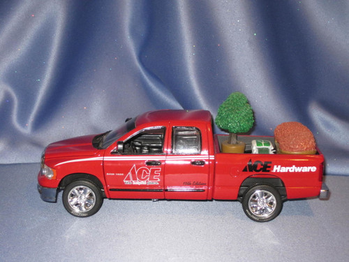 Ace Hardware Dodge Ram Quad Cab Truck with Load Racing Champions by Ertl.