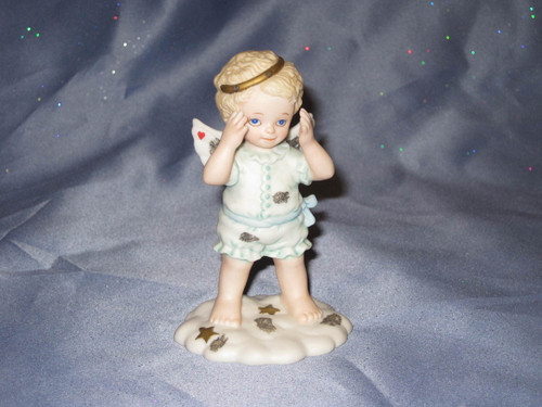 Peek-A-Boo In The Clouds Angel Figurine by Bronson Collectibles.