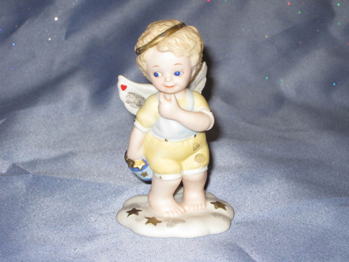 Playing In The Stars Angel Figurine by Bronson Collectibles.