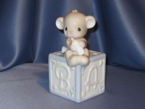 "Precious Moments ""Baby Bear"" Coin Bank by Enesco W/Comp Box"
