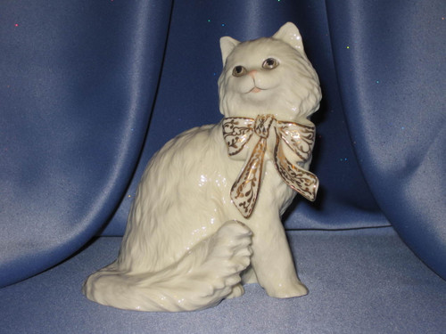 Sitting Pretty Cat with Bow by Lenox.