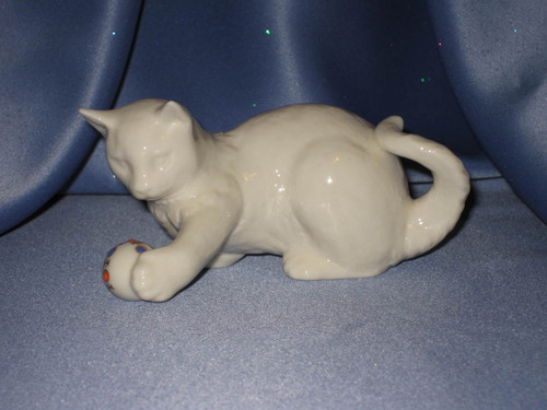 Cat Playing with a Ball by Lenox.
