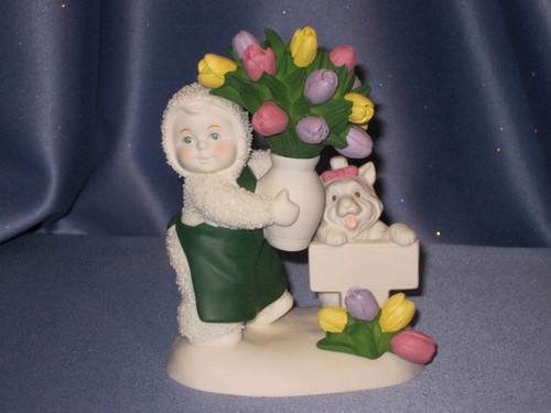 """Snowbabies """"Flowers for You"""" Figurine by Deptartment 56."""