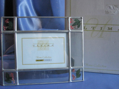 Glass and Metal Frame with Pressed Flowers by ULTIMA Home Collection.