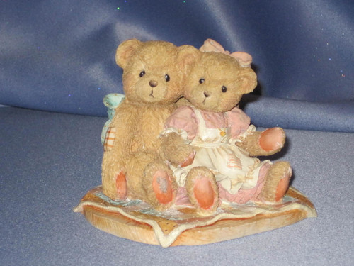 Cherished Teddies - Nathaniel & Nellie - It's Twice As Nice With You W/Comp Box.