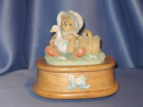 Cherished Teddies Musicbox with Katie The Bear by Enesco.