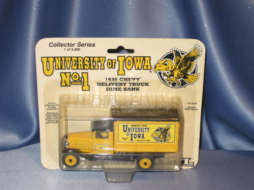 Ertl - University Of Iowa - 1930 Chevy Delivery Truck - Coin Bank.