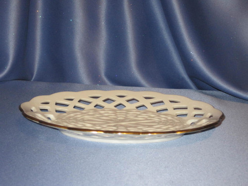 "Oval ""Basket Weave Design"" Dish with 24K Trim by Lenox"