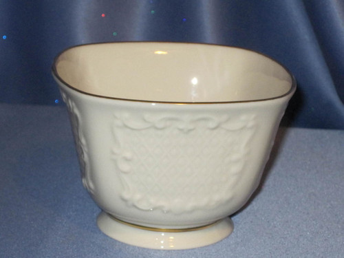 Canterbury Square Candy Bowl With Gold Trim by Lenox.