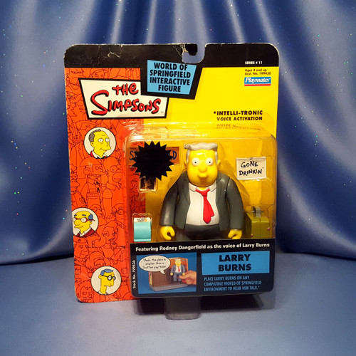 The Simpsons Larry Burns Action Figure by Playmates.