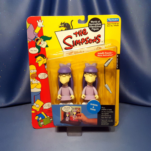 The Simpsons Sherri & Terri Action Figures by Playmates.