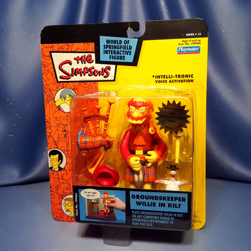 The Simpsons Groundskeeper Willie In Kilt Action Figure by Playmates.