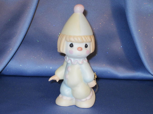 """Precious Moments """"Bless The Days Of Our Youth"""" Clown Figurine by Enesco W/Comp Box."""