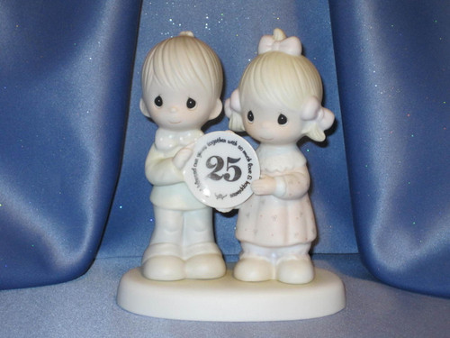 "Jonathan and David ""God Blessed Our Years Together With So Much Love And Happiness"" Figurine by Enesco W/Comp Box."