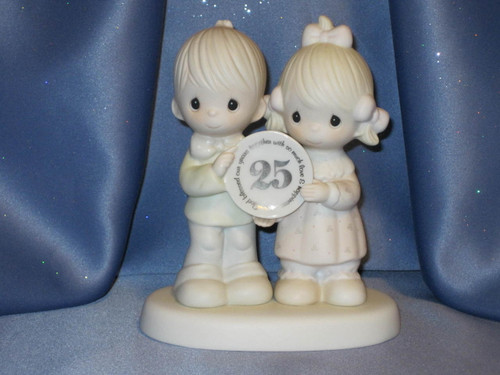 "Jonathan & David ""God Blessed Our Years Together With So Much Love And Happiness"" Figurine by Enesco W/Comp Box."