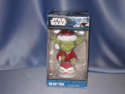 Star Wars - Holiday Yoda Bobblehead.