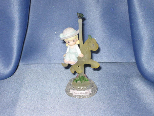 "Precious Moments ""Summer's Joy"" Carousel Horse Figurine by Enesco W/Comp Box."