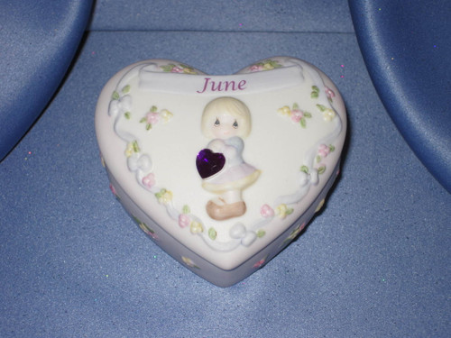 Precious Moments June Birthday Treasure Box by Enesco W/Comp Box.