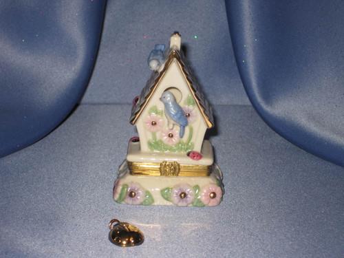 """Treasures """"The Birdhouse Garden"""" Treasure Box by Lenox."""