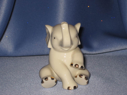 Miniature Sitting Elephant Figurine by Lenox W/Comp Box.