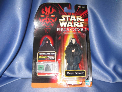 Star Wars The Phantom Menace Episode I Darth Sidious Action Figure by Hasbro.
