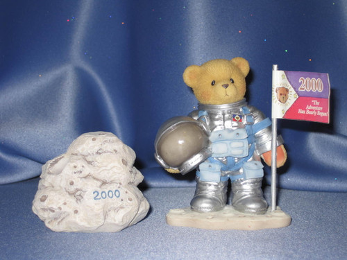 """Cherished Teddies Neil """"One Small Step For Love One Giant Leap For Friendship"""" Figurine W/Comp Box."""