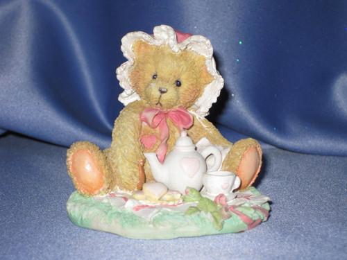 "Cherished Teddies Marie ""Friendship Is A Special Treat"" Figurine W/Comp Box."